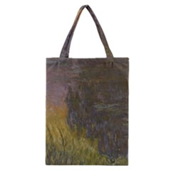 Claude Monet The Water Lilies Setting Sun Classic Tote Bag by ArtMuseum