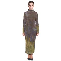 Claude Monet The Water Lilies Setting Sun Turtleneck Maxi Dress by ArtMuseum