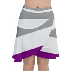 Asexual Pride Flag Lgbtq Chiffon Wrap Front Skirt by lgbtnation