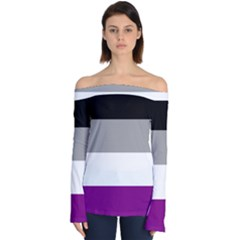 Asexual Pride Flag Lgbtq Off Shoulder Long Sleeve Top by lgbtnation