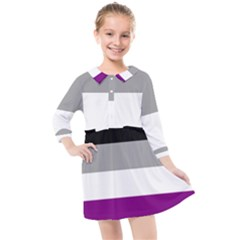 Asexual Pride Flag Lgbtq Kids  Quarter Sleeve Shirt Dress by lgbtnation