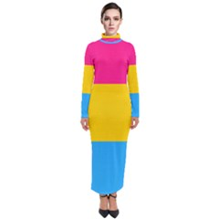 Pansexual Pride Flag Turtleneck Maxi Dress by lgbtnation