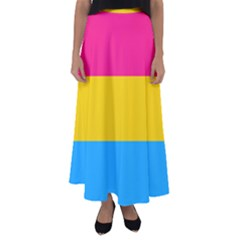 Pansexual Pride Flag Flared Maxi Skirt by lgbtnation