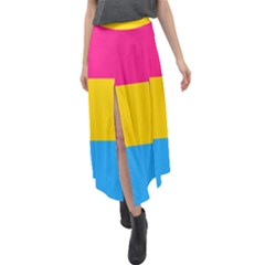 Pansexual Pride Flag Velour Split Maxi Skirt by lgbtnation