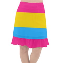 Pansexual Pride Flag Fishtail Chiffon Skirt