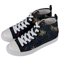 King And Queen  Women s Mid-top Canvas Sneakers by Mezalola