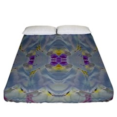 We Are Flower People In Bloom Fitted Sheet (california King Size) by pepitasart