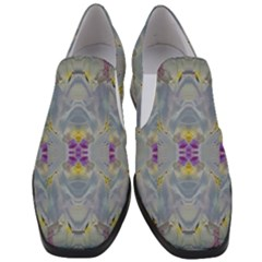 We Are Flower People In Bloom Women Slip On Heel Loafers by pepitasart