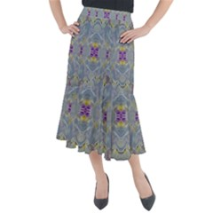 We Are Flower People In Bloom Midi Mermaid Skirt
