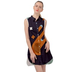 Meteor Meteorite Space Comet Sleeveless Shirt Dress