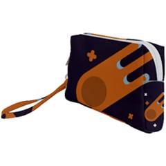 Meteor Meteorite Space Comet Wristlet Pouch Bag (small)