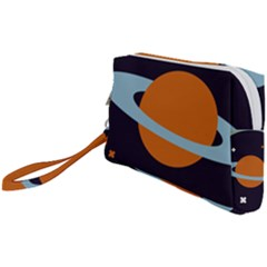 Planet Orbit Universe Star Galaxy Wristlet Pouch Bag (small)