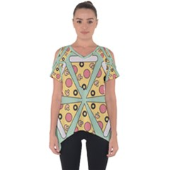 Pizza Slice Food Italian Cut Out Side Drop Tee