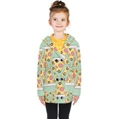 Pizza Slice Food Italian Kids  Double Breasted Button Coat by Pakrebo