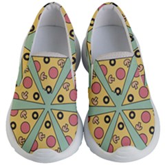Pizza Slice Food Italian Kids  Lightweight Slip Ons by Pakrebo