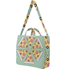 Pizza Slice Food Italian Square Shoulder Tote Bag