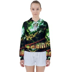 Science Fiction Forward Futuristic Women s Tie Up Sweat
