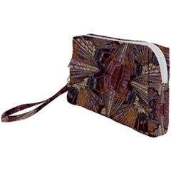 Abstract Design Backdrop Pattern Wristlet Pouch Bag (small)