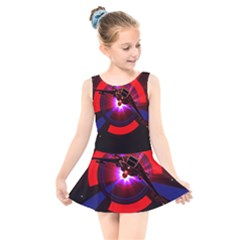 Science Fiction Cover Adventure Kids  Skater Dress Swimsuit