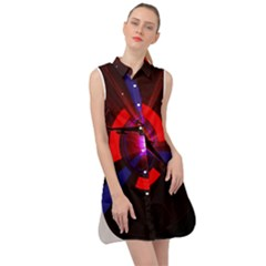 Science Fiction Cover Adventure Sleeveless Shirt Dress