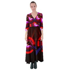 Science Fiction Cover Adventure Button Up Maxi Dress