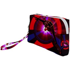 Science Fiction Cover Adventure Wristlet Pouch Bag (small)