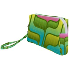 Background Color Texture Bright Wristlet Pouch Bag (small)