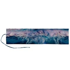 Sea Waves Ocean Water Beach Surf Roll Up Canvas Pencil Holder (l)