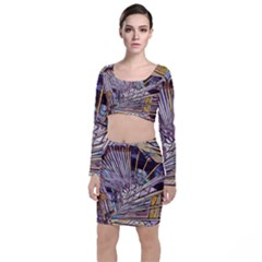 Abstract Drawing Design Modern Top And Skirt Sets by Pakrebo