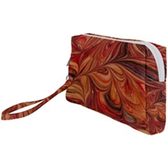 Marbled Paper Mottle Color Movement Wristlet Pouch Bag (small)