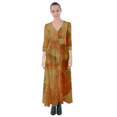 Mottle Color Movement Colorful Button Up Maxi Dress