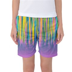 Background Colorful Texture Bright Women s Basketball Shorts