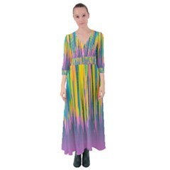 Background Colorful Texture Bright Button Up Maxi Dress