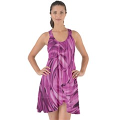 Strudel Magenta Pattern Art Spiral Show Some Back Chiffon Dress by Pakrebo