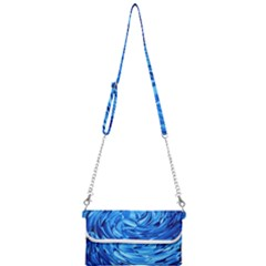Strudel Blue White Light Blue Mini Crossbody Handbag