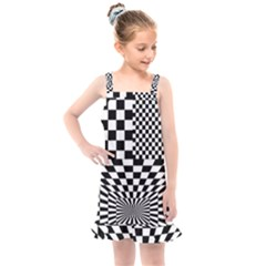 Checkerboard Again 6 Kids  Overall Dress