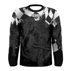 Combat76 Black Pits In The Backyard Men s Long Sleeve Tee by Combat76hornets