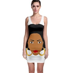 African American Woman With §?urly Hair Bodycon Dress by bumblebamboo