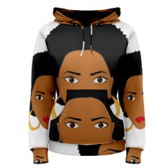 African American Woman With §?urly Hair Women s Pullover Hoodie by bumblebamboo