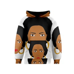 African American Woman With §?urly Hair Kids  Pullover Hoodie by bumblebamboo