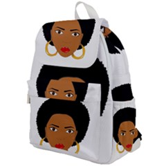 African American Woman With §?urly Hair Top Flap Backpack