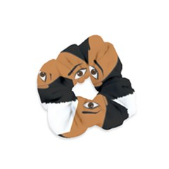 African American Woman With §?urly Hair Velvet Scrunchie by bumblebamboo