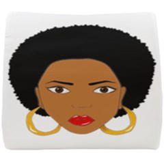 African American Woman With §?urly Hair Seat Cushion