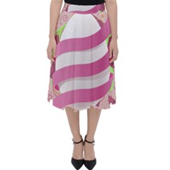 Easter Egg Colorful Spring Color Classic Midi Skirt by Pakrebo