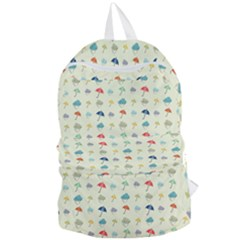 Clouds And Umbrellas Seasons Pattern Foldable Lightweight Backpack by Pakrebo