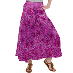 Flowering And Blooming To Bring Happiness Satin Palazzo Pants