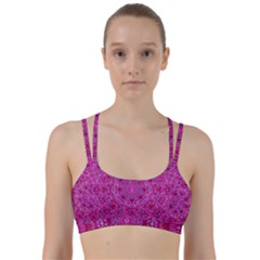 Flowering And Blooming To Bring Happiness Line Them Up Sports Bra by pepitasart