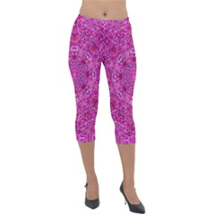 Flowering And Blooming To Bring Happiness Lightweight Velour Capri Leggings  by pepitasart