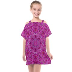 Flowering And Blooming To Bring Happiness Kids  One Piece Chiffon Dress by pepitasart