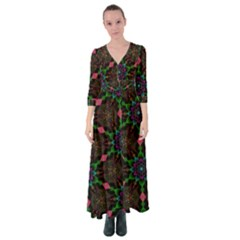 Backgrounds Pattern Wallpaper Color Button Up Maxi Dress